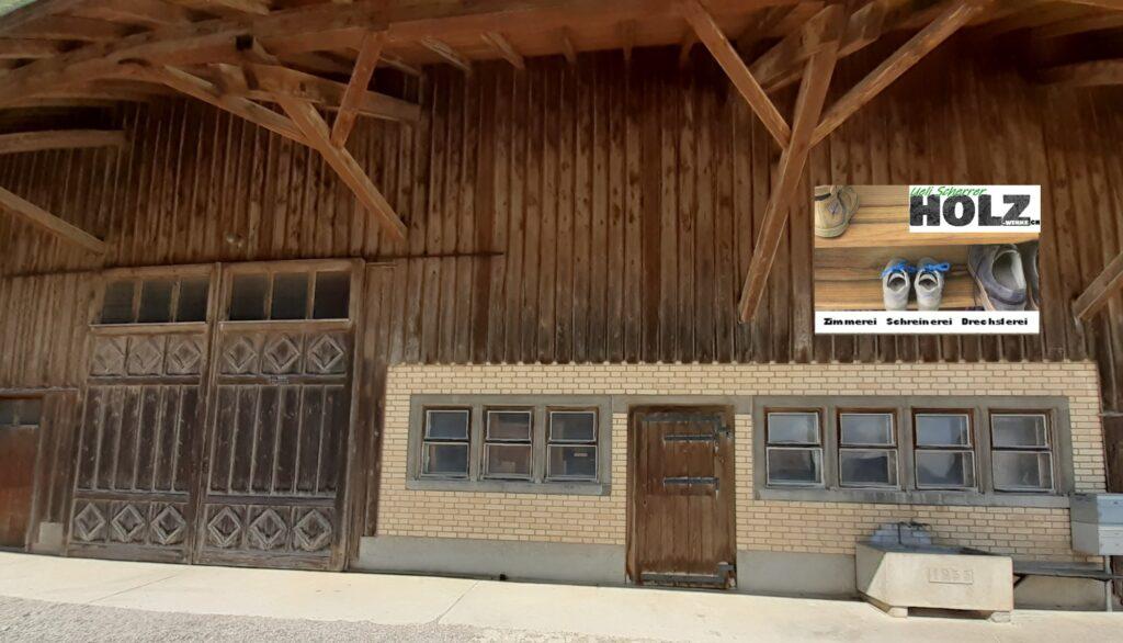Werkstatt von Holz-Werke.ch am Hasenbergweg in Kirchberg
