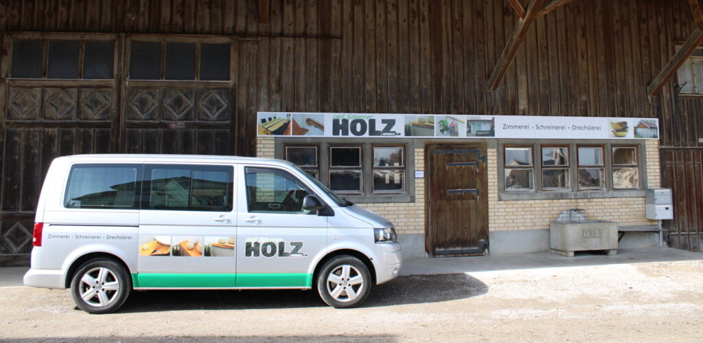 Die Werkstatt von der Zimmerei / Schreinerei / Drechslerei Holz-Werke.ch ist am Hasenbergweg 4 in Kirchberg SG.