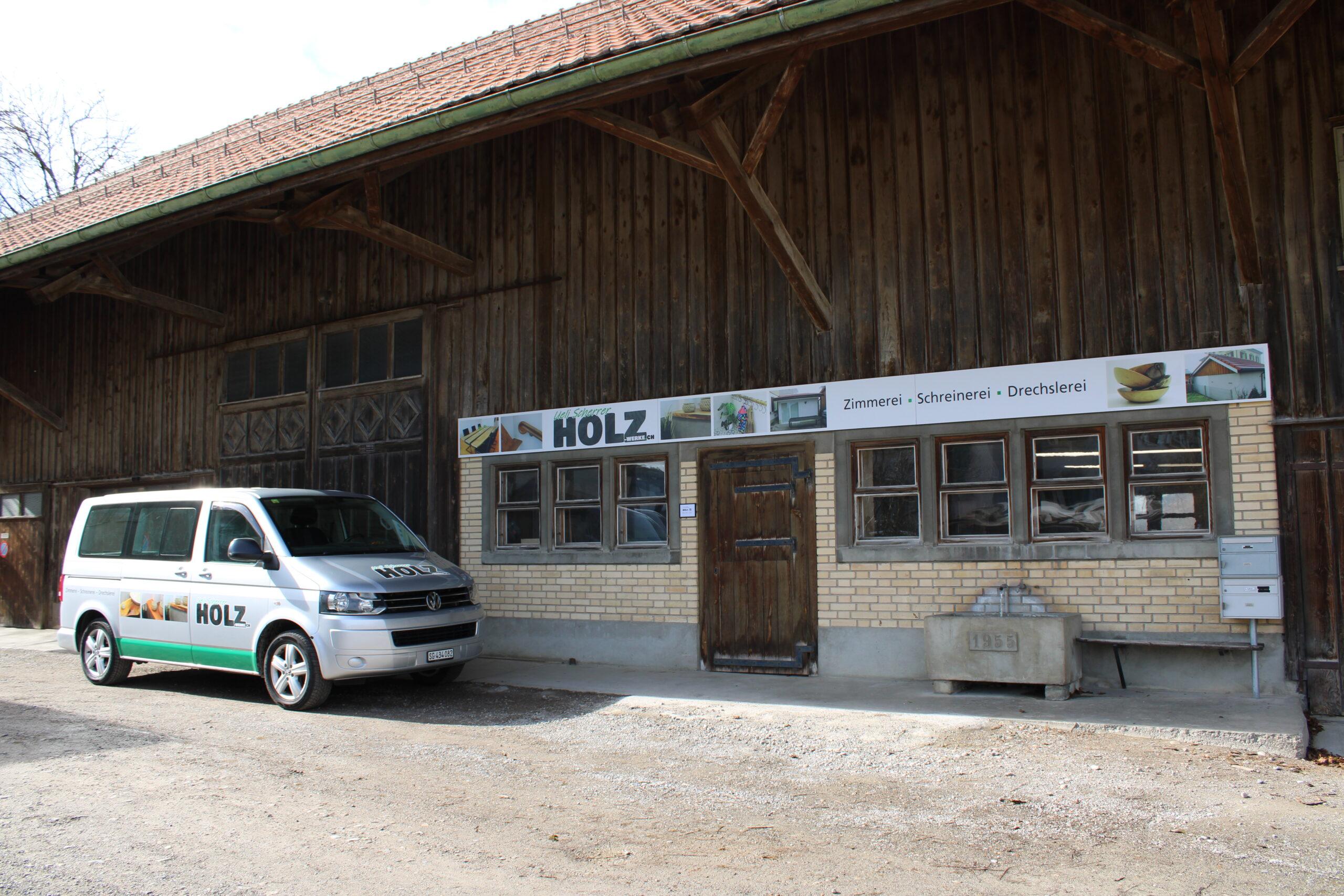 Schreinerei Zimmerei Drechslerei am Hasenbergweg in Kirchberg SG